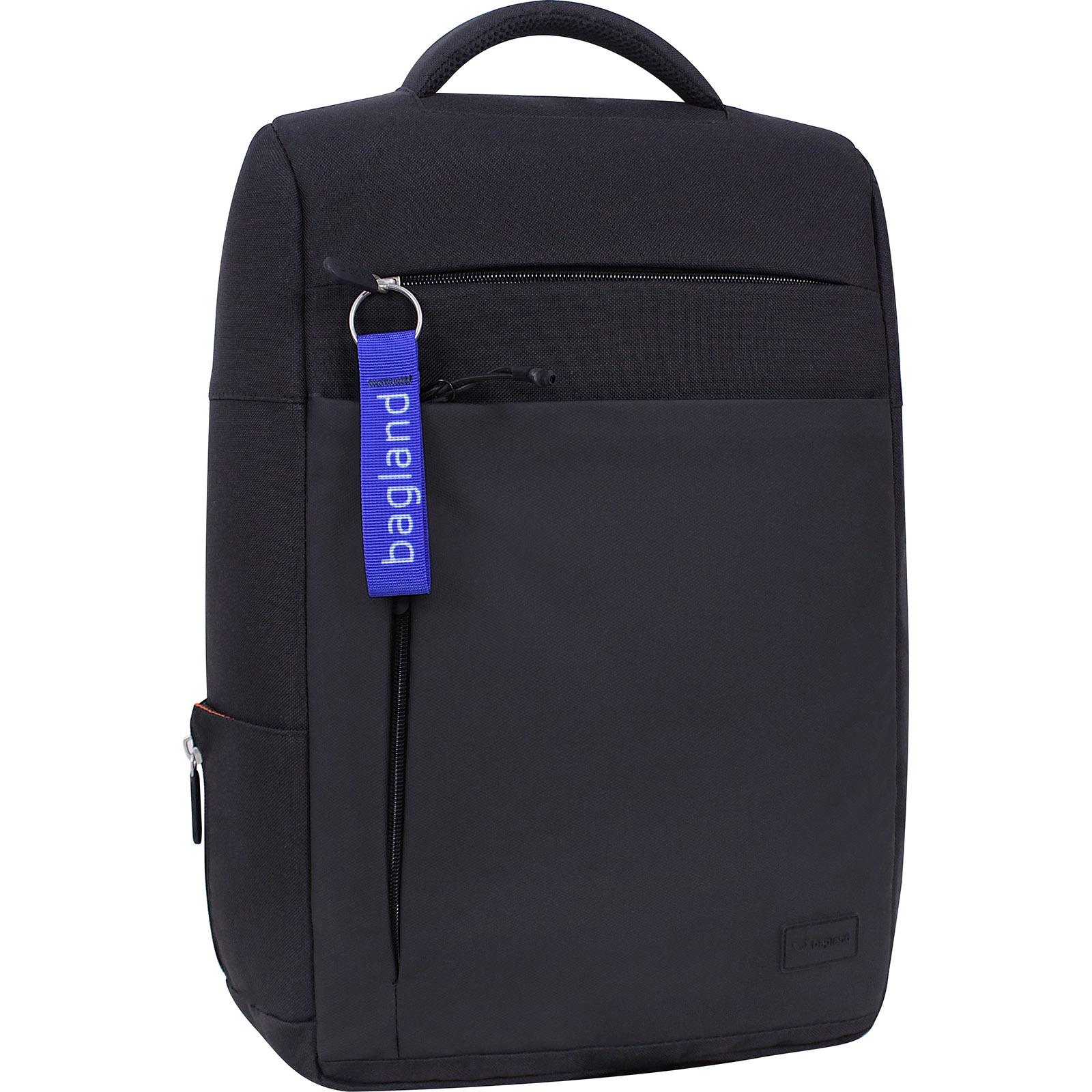 Мужские рюкзаки Рюкзак Bagland Волнорез 20 л. черный/кожзам (0013866) IMG_7198.jpg
