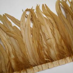 Тесьма  из перьев петуха h 25-30 см, бежевый