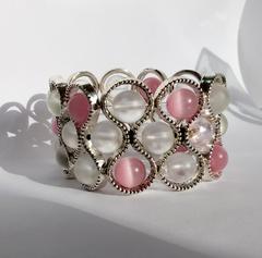 Браслет широкий Satinato Seleste розовый