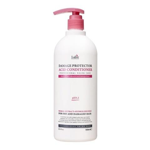 Кондиционер для сухих и поврежденных волос увлажняющий, бессиликоновый La'dor Damage Protector acid Conditioner, 900 мл