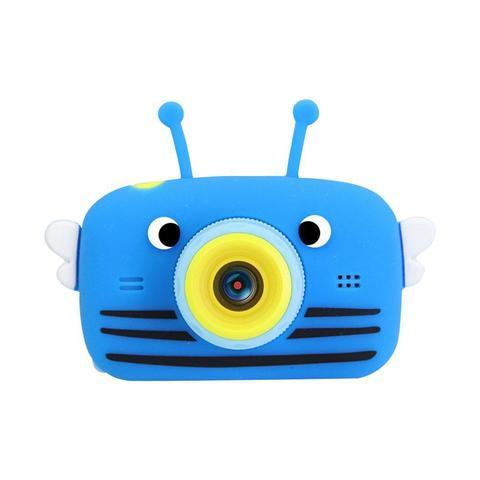 Фотоаппарат детский SmileZoom Пчёлка с селфи-камерой / Синий