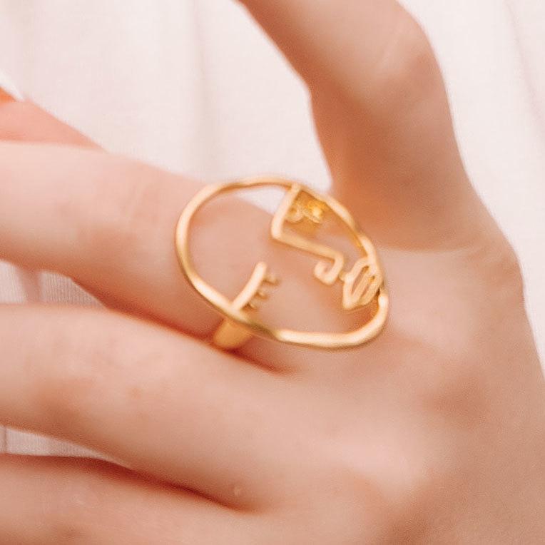 Кольцо Vi Лицо Контур муж золотой