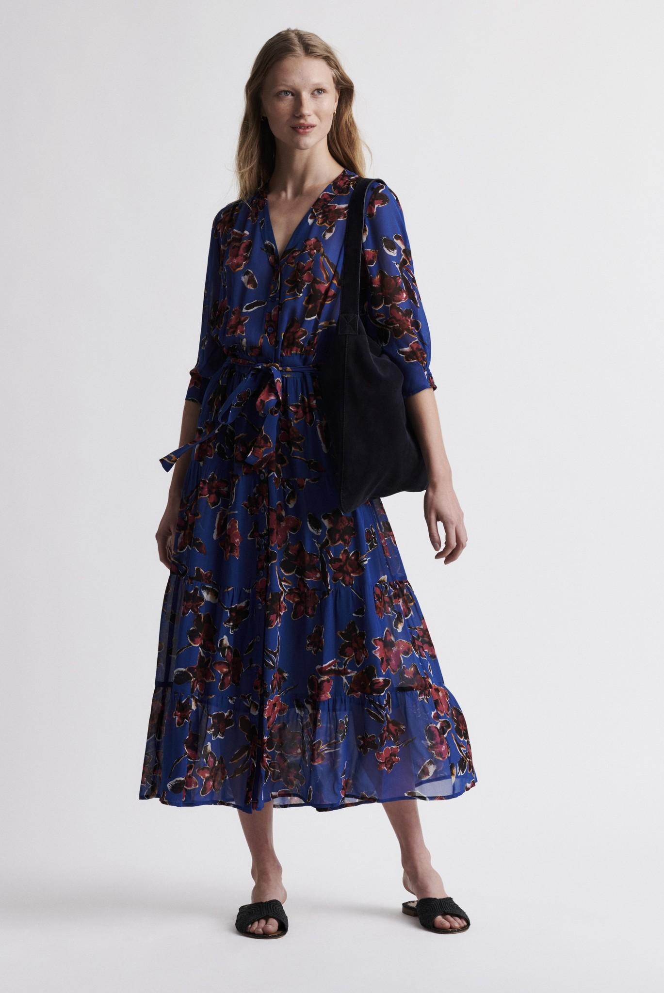 SOLIDEA - Длинное  платье с цветочным принтом