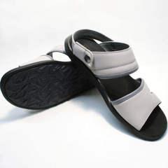 Модные сандали мужские кожаные Ikoc 3294-3 Gray.