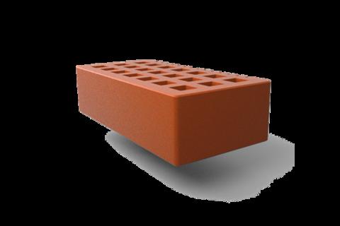 Кирпич лицевой пустотелый одинарный 250х120х65мм Красный
