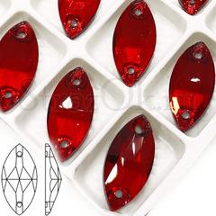 Стразы пришивные стеклянные Siam красные купить оптом недорого