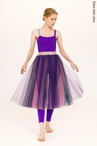 Colour rehearsal tulle skirt | violet