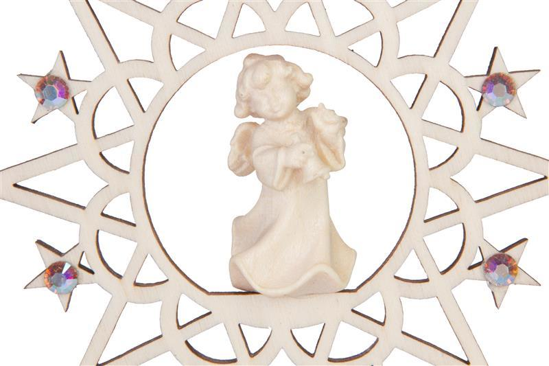 Ангел с колокольчиком со стразами Сваровски