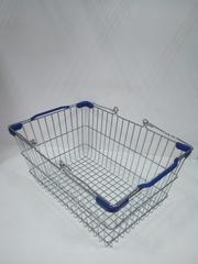 Корзина покупательская 400х285х190 мм (D=4/3/2.2 мм)  BBL-20blue  (20 л.),   Синяя