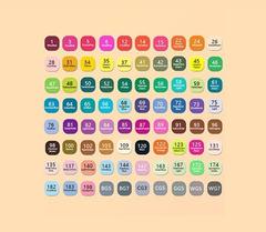 Набор двусторонних спиртовых маркеров TouchColor, 80 цветов (уценка)