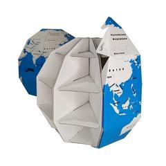 3D пазл глобус раскраска ТамТут