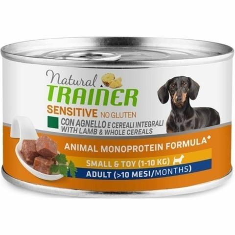Trainer Natural Sensitive No Gluten влажный  корм для взрослых собак мелких пород с ягненком - 150 г