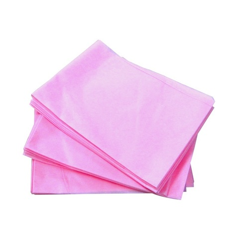 Простыни 70х200 (сложение) розовые 25 штук