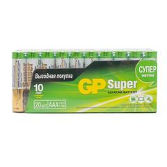 Батарейки GP мизинчиковые ААA LR03 (20 штук в упаковке)