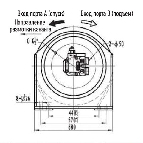 Лебедка свободного сброса IYJ5-100-57-28-L-ZPH3