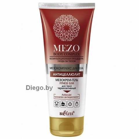 Мезокрем-гель Fitness Slim для тела термоактивный , 200 мл ( Mezo Body Complex )