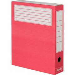 Короб архивный Attache микрогофрокартон красный 252x75x322 мм (5 штук в упаковке)
