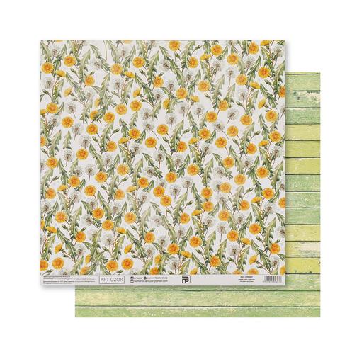 Бумага для скрапбукинга «Одуванчики», 30.5 × 32 см, 180 гм