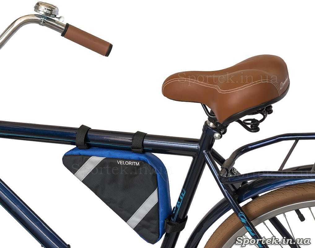 Велосипедна сумка Veloritm на рамі велосипеда
