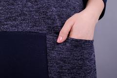 Віши. Жіноча сукня на кожен день великих розмірів. Синій.