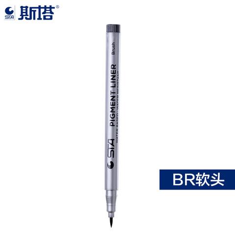 Линер STA 8050 черный, кисть