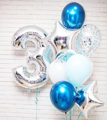 шары цифры, синие шары, шары с конфетти, фольгированные шары, воздушные шары, букет из шаров, шары с гелием, бесплатная доставка шаров.