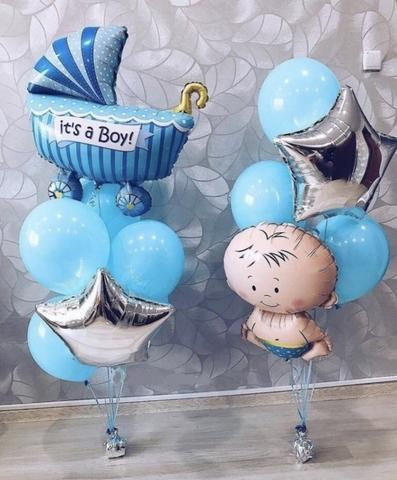 Набор из воздушных шаров на выписку для мальчика №5