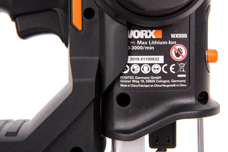 Лобзик аккумуляторный-сабельная пила WORX Axis WX550, 20В, 2Ач x1, кейс