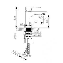 Смеситель KAISER Cezar 05011-2 для раковины схема