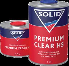 322.1500 SOLID PREMIUM CLEAR HS (1000+500мл) - 2K лак системы HS (в комп. с отвердит.)