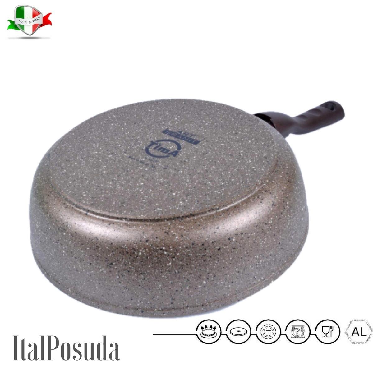 Сотейник со съёмной ручкой TIMA Art Granit индукционный, 24 см www.Ital-Posuda.ru