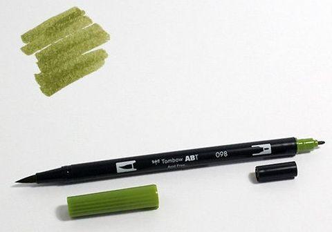Маркер-кисть Tombow ABT Dual Brush Pen-098, авокадо