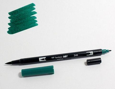 Маркер-кисть Tombow ABT Dual Brush Pen-346, цвет морской волны