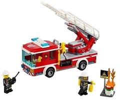 Конструктор серия Город Пожарный автомобиль с лестницей