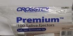 Наконечники для слюноотсосов Crosstex Premium Plus Saliva Ejector (Белые)