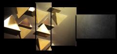 """Модульная картина """"Абстракция треугольников"""""""
