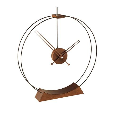 Настольные часы Aire дерево-черный