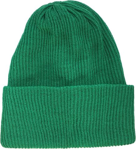 Зеленая шапочка бини