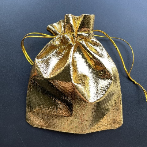 Мешочек для украшений 9,5х12 см золотой