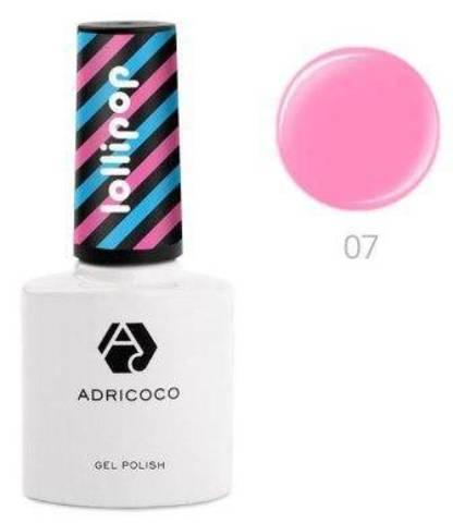 Гель-лак ADRICOCO Lollipop №07 - Клубничный чупа-чупс (8 мл.)