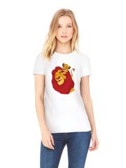 Футболка с принтом мультфильма Король лев (The Lion King, Симба, Муфаса) белая w005