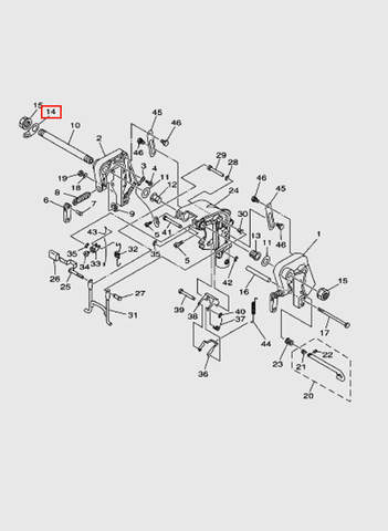 Пластина  для лодочного мотора T15, OTH 9,9 SEA-PRO (13-14)