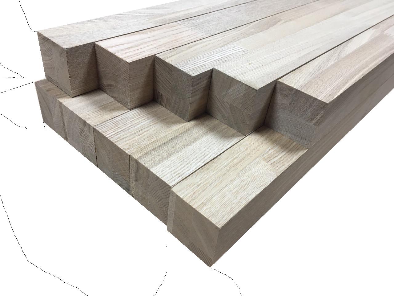 Мебельный брус - ясень сращённый 50 мм х 50 мм х 900 мм
