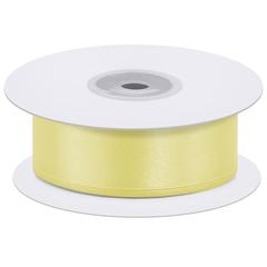 Лента атласная Светло-желтый, 2,5 см*22,85 м
