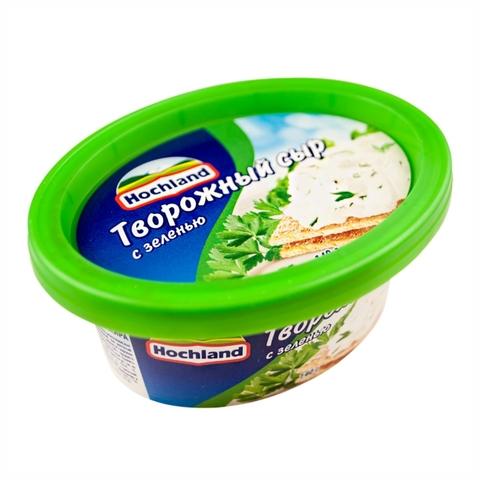 Сыр творожный HOCHLAND Зелень 140 гр РОССИЯ
