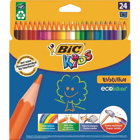 Карандаши цветные Bic 24 цвета шестигранные