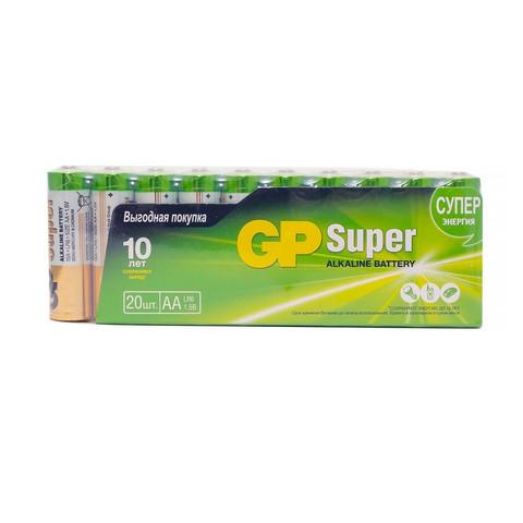 Батарейки GP пальчиковые АА LR6 (20 штук в упаковке)