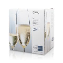 Набор фужеров для шампанского 220 мл, 6 шт, Diva, фото 5