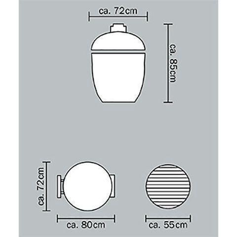 Керамический гриль Monolith LeChef Pro-Series 2.0 Black (без ножек и боковых столиков)