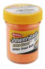 Паста Berkley Powerbait Extra Scent Glitter Trout Bait (Черный/оранжевый)